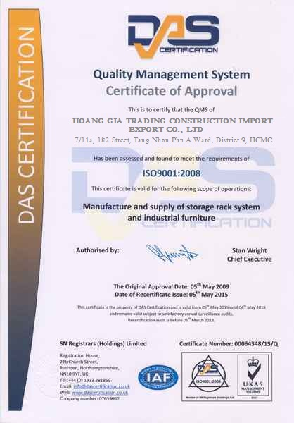 ISO 9001 HOANG GIA
